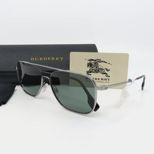 B 3112 1003/71 Burberry Gunmetal/ Green Sunglasses